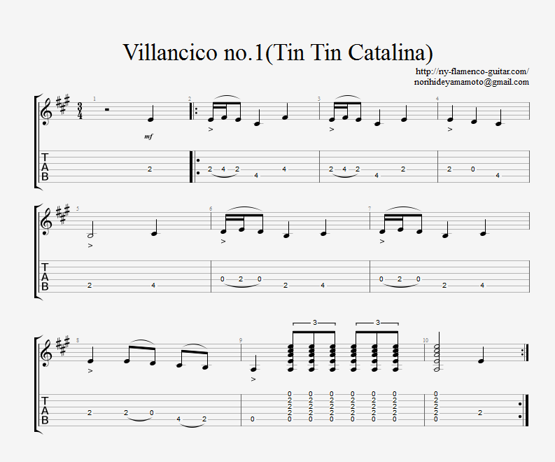 Villancico Falseta no.1 Tin Tin Catalina